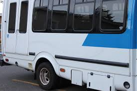 Paratransit bus with ramp