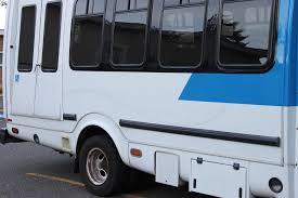 Paratransit bus with ramp